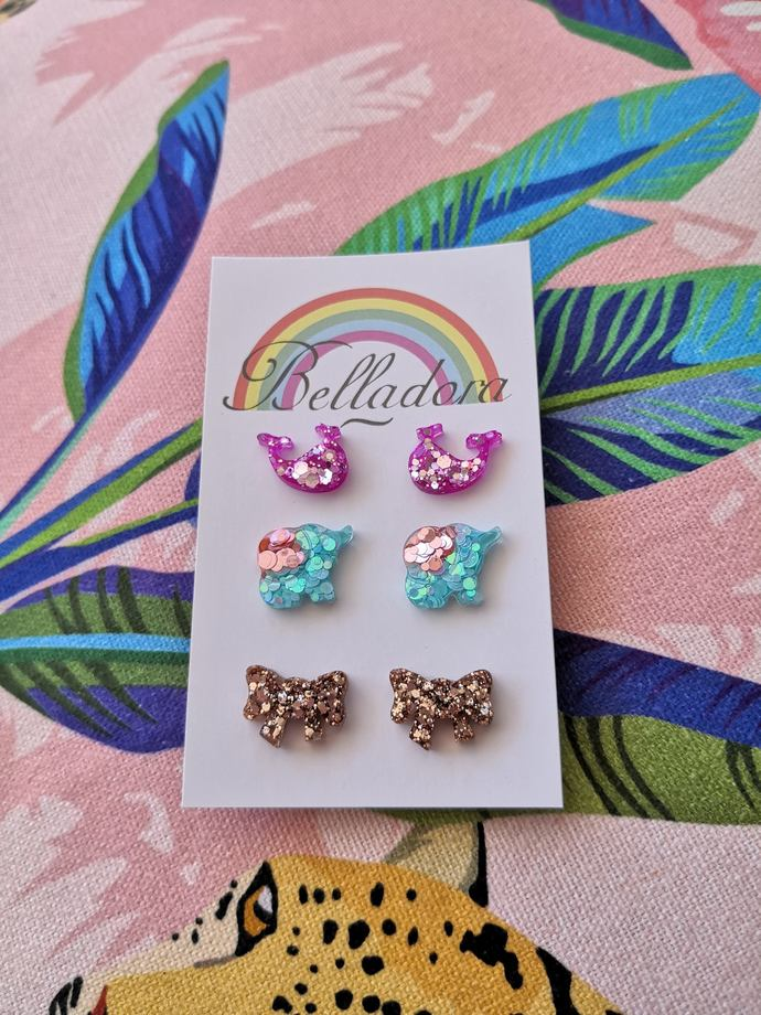 Stud Pack - Whales, Elephants and Bows