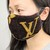 Customized altered LV mask - LV brown mask - Louis Vuitton towel mask - LV mask