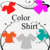 Color Tshirt 1-Digital Clipart-Art Clip-Gift Cards-Banner-Gift Tag-Jewelry-T