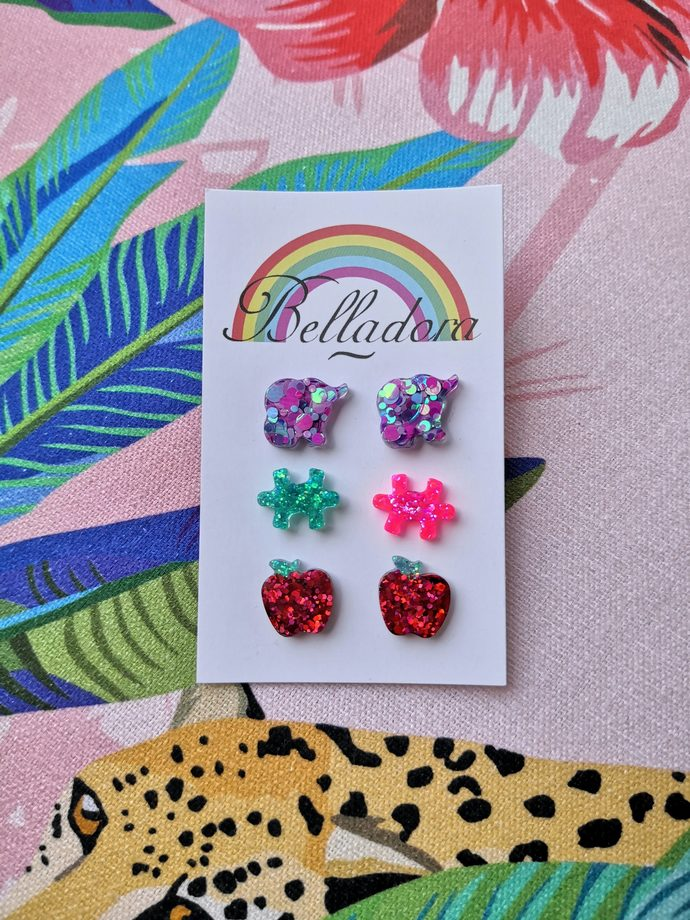 Stud Pack - Elephants, Puzzles and Apples