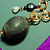 Pebble, Glass and Copper Necklace