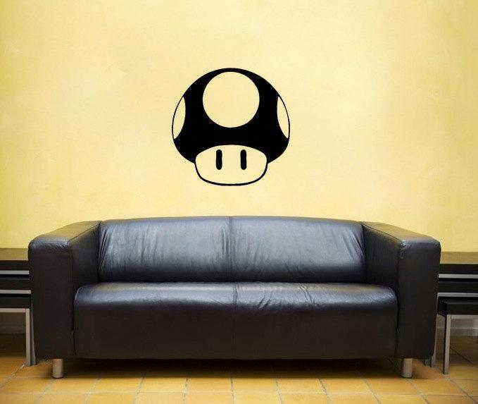 Mushroom, vinyl Wall DECAL- nintendo, super | EyvalDecal