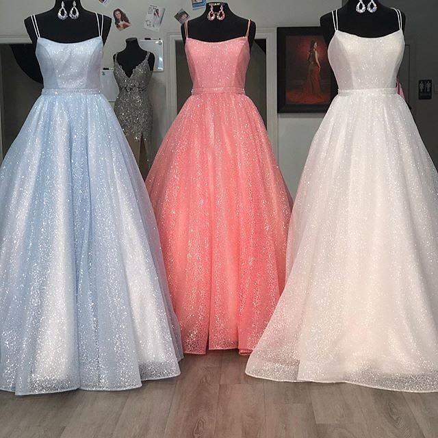 Custom Prom Dress,Tulle Prom Gown,Spaghetti Straps Evening Dress,A-Line Prom