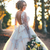 A Line Wedding Dresses with Long Sleeves Sheer Jewel Neck Long Bridal Gowns With
