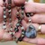 Captivating Boulder Opal Long Beaded Necklace with Pendant by KnottedUp Hand