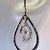Silver Teardrop Earrings with Swarovski Crystal