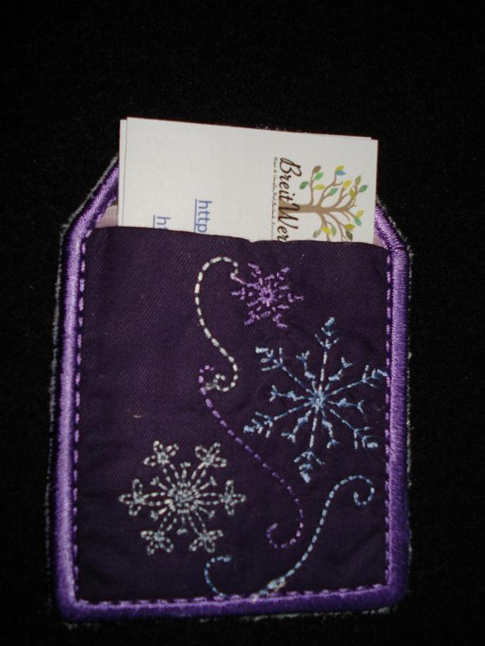 Snowflake Gift Card / Luggage / Business Card Tag