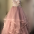 blush pink floor length long prom dress, 2020 prom dress with ruffles
