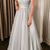 elegant silver long prom dress 2020 with spaghetti straps