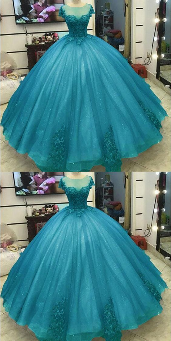 Ball Gown Princess Prom Dresses Lace Appliqued Victorian