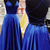 royal blue prom dress long with lace up back