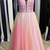 2020 prom dress  A-line long prom dress with beaded