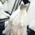 White v neck tulle long prom dress formal dress