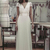 Robe Vintage Wedding Dresses V Neck Short Sleeve Lace Applqiue Chiffon Backless