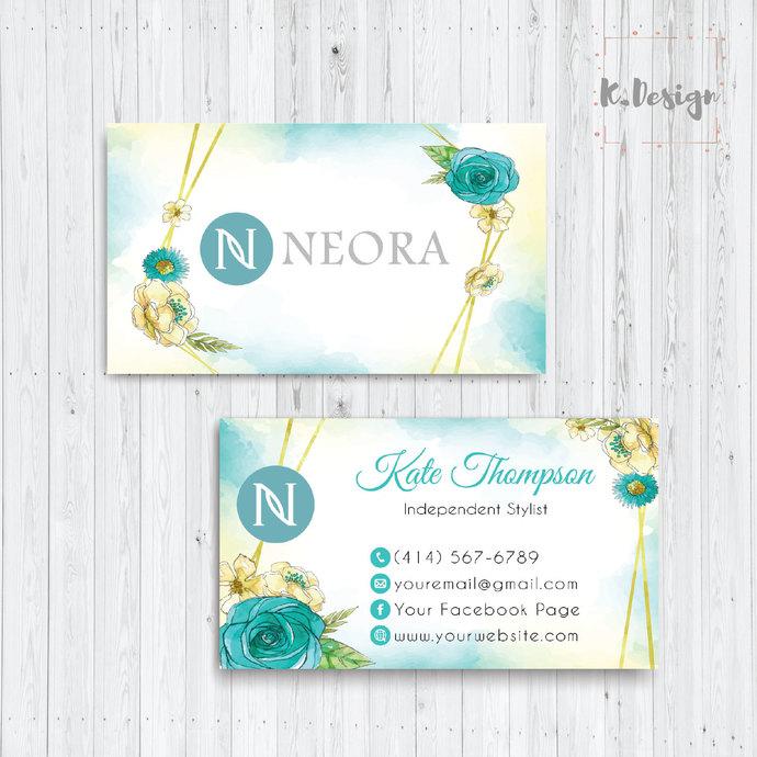 Neora Business Cards, Personalized Neora Template NE10