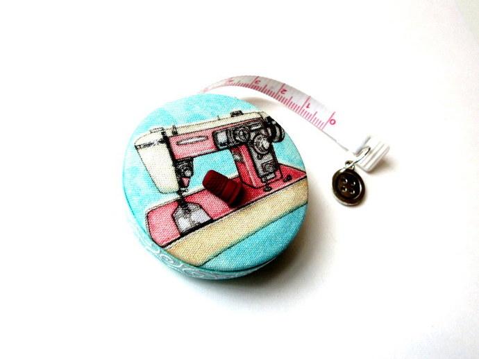 Measuring Tape Retro Sewing Machines Retractable Small Tape Measure