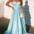 Simple Sweetheart Satin Blue Party Dress, Blue Prom Dress 2020