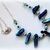 Peacock Blue Crystal Necklace