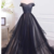 Beautiful Black and Champagne Long Off Shoulder Party Dress, Evening Gown