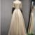 Beautiful Champagne Satin Long Beaded Prom Dress, Junior Prom Dress