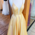 Yellow Prom Dress, Long Prom Dress for Teens