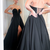 black long prom dress with sweetheart Prom Dress for Teens