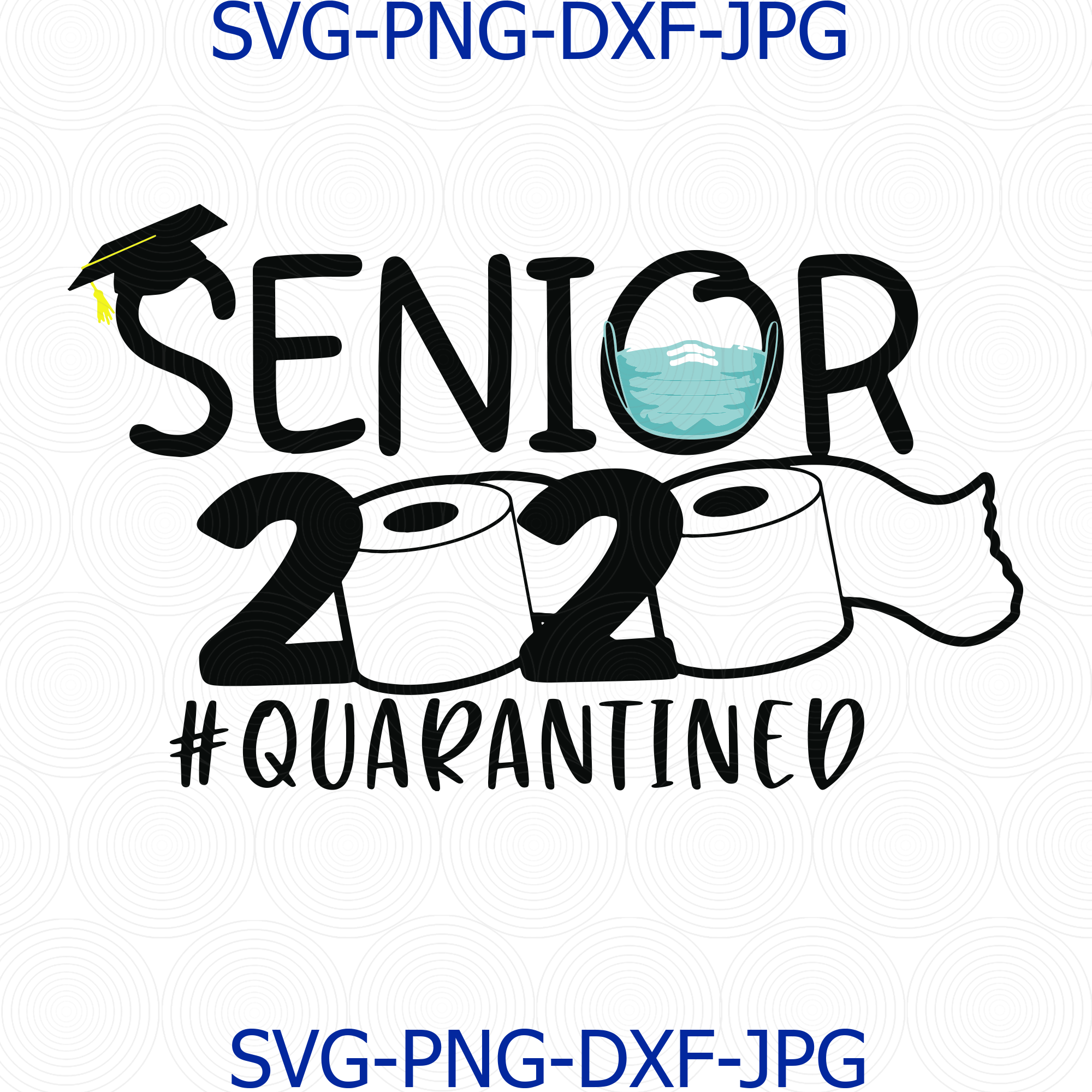 Senior 2020 Quarantined Toilet Paper Mask By Digital4u On Zibbet