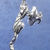 "Climbing cat tack pin in sterling silver, Cat ""A2"""