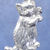 "Sitting up kitten in bronze or sterling silver, Cat ""F"""