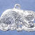 """Kitten having a snack charm in bronze or sterling silver, Cat """"G"""""""