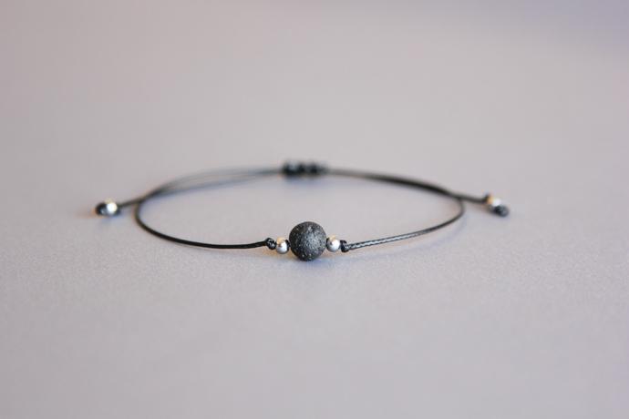 Adjustable diffuser bracelet Aromatherapy bracelet Lava bead bracelet Surfer