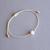 White lava bead bracelet Diffuser bracelet Aromatherapy bracelet Lava rock