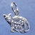 "Mama cat with litter of kittens charm in bronze or sterling silver, Cat ""J"""