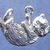 """Kitten playing on its back charm in bronze or sterling silver, Cat """"K"""""""
