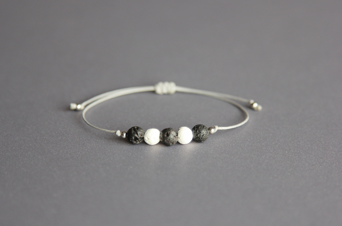 Lava bead bracelet Oil diffuser bracelet Aromatherapy bracelet Mens bracelet