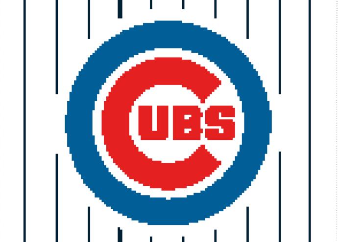 Chicago Cubs Crochet Pattern  (Graph, SC, C2C, Bobble stitch)