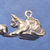 "Cat with ball charm in bronze or sterling silver, Cat ""M"""