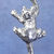 "Climbing cat charm in sterling silver, Cat ""N"""