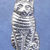 """Sitting tabby cat pendant in bronze or sterling silver, Cat """"Q"""""""