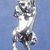 """Climbing cat pendant in bronze or sterling silver,  Cat """"S"""""""