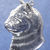"Tabby cat head profile pendant in bronze or sterling silver, Cat ""X"""