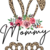 Easter Bunny Ears with flowers, Happy Easter, Jesus is the reason for the