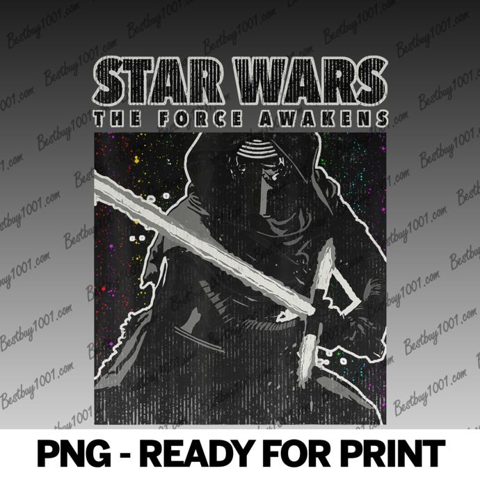 Star Wars Kylo Ren The Force Awakens Poster png