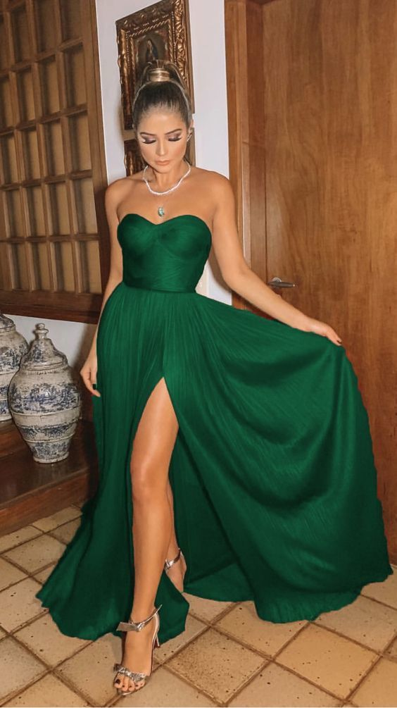 emerald green bridesmaid dresses  ML6983