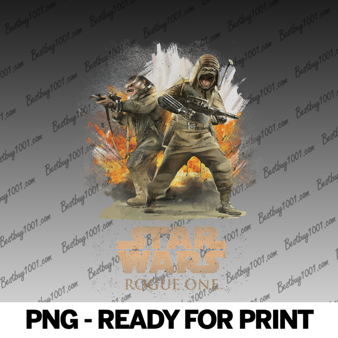Star Wars Rogue One Pao and Bistan Battle Scene png
