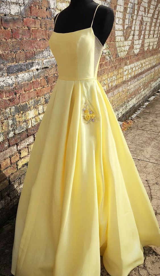 simple long prom dresses, cheap yellow prom dresses, pretty prom dresses with
