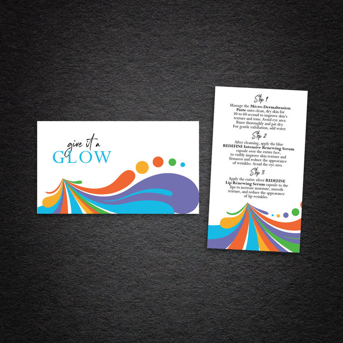 Colorful Rodan & Fields Business Cards, Personalized Rodan & Fields Cards, Give