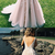 A-Line V-Neck Champagne Prom Dress with Beading Appliques, Classic Princess Long