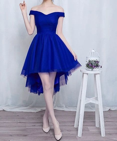 Cute high low tulle short prom dress    ML7021