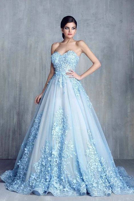 Sweetheart Prom Dresses A Line Tulle With Handmade Flowers Sweep/Brush Train